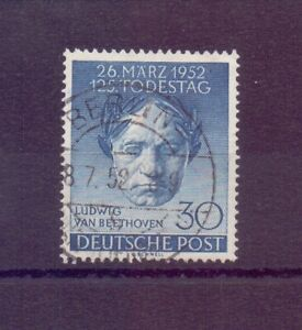 Berlin-1952-Beethoven-MiNr-87-rund-gestempelt-Michel-30-00-740