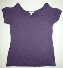 *NWT* DELIAS WOMENS LADIES PURPLE CUT OUT SLEEVE TOP SIZE SMALL E140 A1