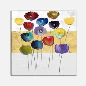 Quadri moderni dipinti a mano con fiori quadro moderno astratto salone cucina ebay - Quadri moderni cucina ...