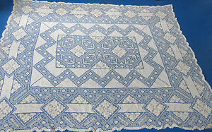Vintage Linen Tablecloth Fine Open Work