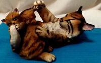 PLAYFUL MORNING Lynx & Cub Figurine 1984 National Wildlife Federation N Wilson