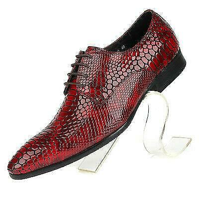 Mens Cow Leather Shoes Snake Pattern Dress//Formal Vogue genuine Leather Shoes sz