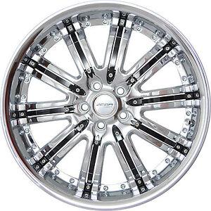 4 Gwg Wheels 20 Inch Chrome Black Narsis Rims Fits Cadillac Cts