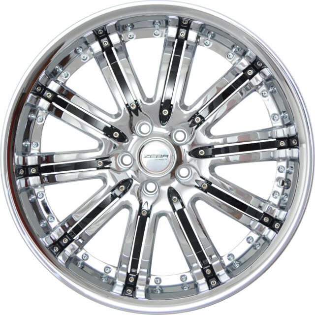 4 GWG Wheels 20 Inch Chrome Black NARSIS Rims Fits ACURA