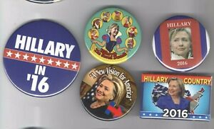 5-pin-2016-pin-HILLARY-Clinton-button-Democratic-Party-Primary