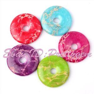 30mm-Donut-Round-Imperial-Jasper-Gemstone-Pendant-Beads-For-Jewelry-Making-1-Pcs