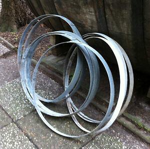 5 fa reifen reifen fa band band eisenreifen metallreifen fa ring deko kellerbar ebay. Black Bedroom Furniture Sets. Home Design Ideas