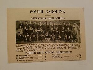 Greenville South Carolina Salisbury NC High School 1926 ...