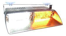 Warningworx Amber White LED Interior Deck Dash Windshield Emergency Strobe Light