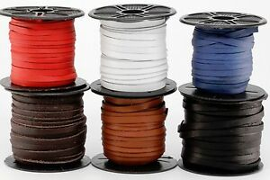 """Deertan Leather Lace Spool 3/16"""" 5MM x 50 FT DIY Crafts Supplies Cord Jewelry"""