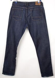 Massimo Dutti Hommes Droit Jambe Slim Jeans Extensible Taille US38 EU48 W32 L32