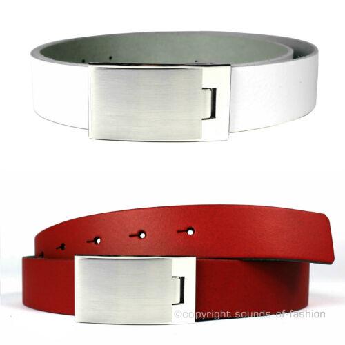 Cintura in pelle made in Germany 3 3,5 4 cm di larghezza Uomo Pelle Liscia cintura bovina