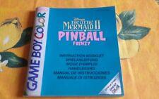 Game Boy Color Disney The little Mermaid 2 Pinball Frenzy original Anleitung