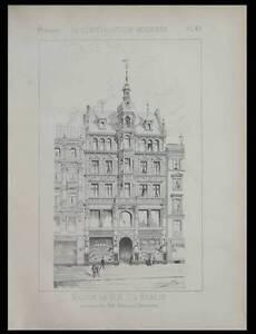 Berlin, Maison Leipziger Strasse 1886 - Planche Architecture - Kayser Grossheim Le Prix Reste Stable