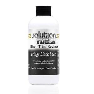 Solution Finish Black Plastic & Vinyl Restorer 12 oz. Super Fast Shipping!