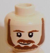 Lego Qui-Gon Jinn Dual Sided Head x 1 Light Flesh for Minifigure
