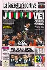 GAZZETTA DELLO SPORT 03/05/2015 JUVENTUS CAMPIONE D'ITALIA SCUDETTO 31 33 JUVE