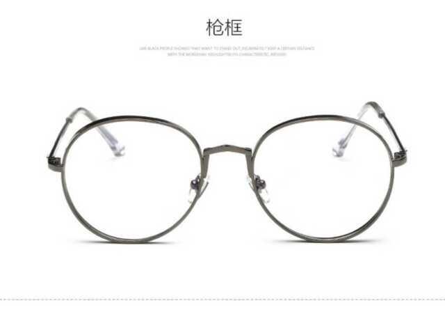 Korean Glasses Frame Round Metal Fashion BRAND DESIGNER Eyewear ...