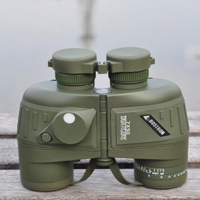 Outdoor 10X50 396FT/1000YDS Military Binocular Telescope with Compass Waterproof