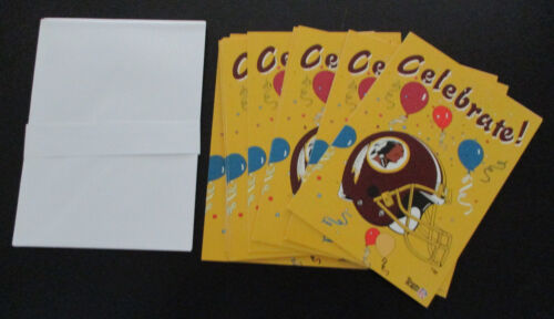 Washington Redskins Greeting Card Celebrate!  Any Occasion NEW w envelope