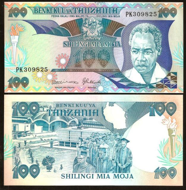 TANZANIA 100 Shilingi 1986 - UNC - Pick 14b