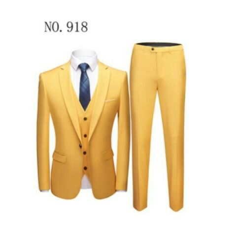 Dinner Prom Wedding Men/'s 3 Piece Green Groom Tuxedos Formal Suit Suit Custom