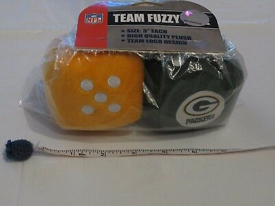 NFL Green Bay Packers Team Fuzzy dice team Logo Fremont DIE GreenBay NEW package