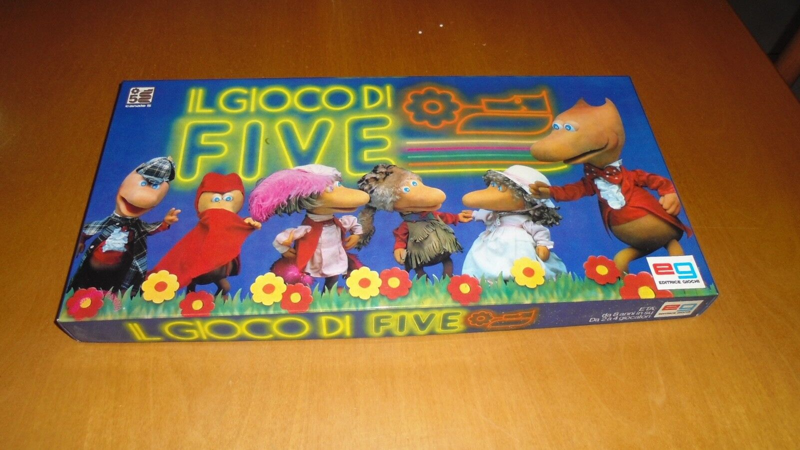 The game of five EG Table Games Vintage Toys Old Game