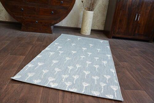 "Modern Grey Sisal Carpet /""flat/"" Floral Flat Weave easy to clean"
