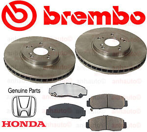 Set of 2 Brembo Front Brake Rotors /& Pads for Acura CL TL MDX TSX Honda Accord