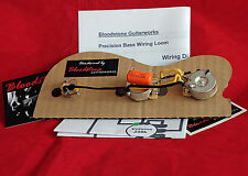 Ready Built Fender USA Precision P Bass Wiring Upgrade / Loom / Harness / Kit