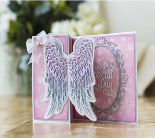 Ausgehöhlt Flügel Metal Cutting Dies Scrapbooking Stanzschablone Karte Tagebuch
