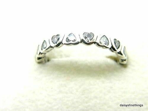 5952c3f367f5c Authentic PANDORA #190897cz-52 Forever More Band Ring Size 6 Retired