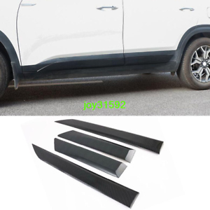 For Kia Seltos Car Accessories Door Sill Cover Scuff Plate Protector Trim 2021