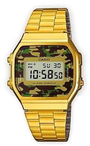 Casio A-168WEGC-3E Orologio, Vintage, Camouflage, Unisex, Crono,Luce,Batt.7 anni