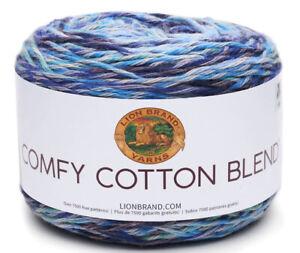 NEW-Lion-Brand-Yarn-Comfy-Cotton-Blend-Yarn-Ocean-Breeze-756-709-FREE-SHIPPING
