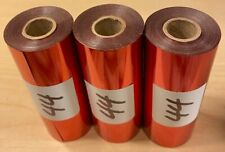 Kingsley Hot Stamp Stamping Foil Satin Red 3 Rolls 3 X 95 Free Ship