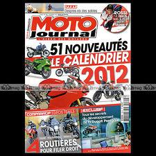 MOTO JOURNAL N°1985 VALENTINO ROSSI HONDA 700 INTEGRA TRIUMPH 1050 TIGER 2012