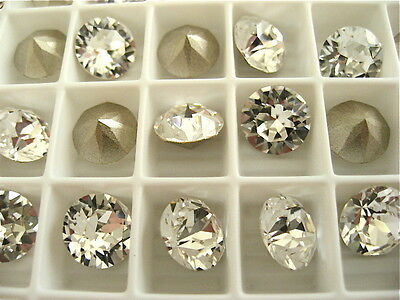 24 Clear Crystal Foiled Swarovski Crystal Chaton Stone 1088 39ss 8mm Chatons