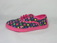 Toms Kids Girls Youth Cordones Stars Navy Hot Pink Red Yellow 10000747 Org