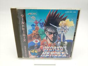 ES- WORLD HEROES NEO GEO CD JAPAN USED TESTED