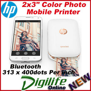 HP-Sprocket-Photo-Printer-for-Mobile-Smartphone-Recharge-Battery-Z3Z91A-White