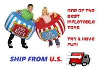2 X Giant Inflatable Blow-up Body Bumpers Children Party Flavor Outdoor Hot Toy