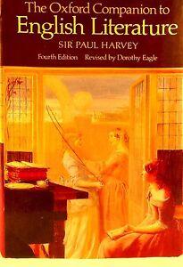 The-Oxford-Companion-to-English-Literature-Sir-Paul-Harvey-4th-ed-used-hardback
