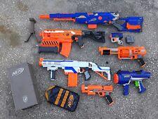 lot 7 Nerf blaster guns Long Strike Demolisher Retaliator FuryFire HyperFire +++