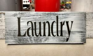 Details About Farmhouse Wood Sign Laundry Room Rustic Small 9 Country