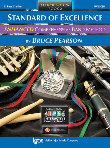 Standard of Excellence ENHANCED Bass Clarinet Book 2 w// Online Media PW22CLB
