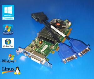 Bajo-perfil-tarjeta-de-video-monitor-VGA-doble-Genuino-Dell-OptiPlex-760-780-380-755