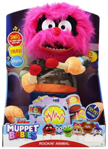 Disney Junior Muppet Babies Rockin/' Animal Feature Plush