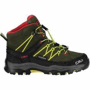 Cmp Trekking Chaussures Outdoorschuh Kids Rigel Mid Trekking Shoes Wp Vert Clair-afficher Le Titre D'origine Pas De Frais à Tout Prix